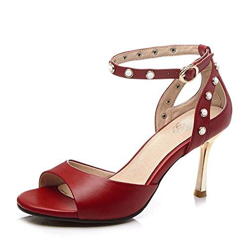 leder, leder, high heels stiletto heels knöchelriemen sandalen im sommer die schnalle schuhe aus essen Toronto - Zwei