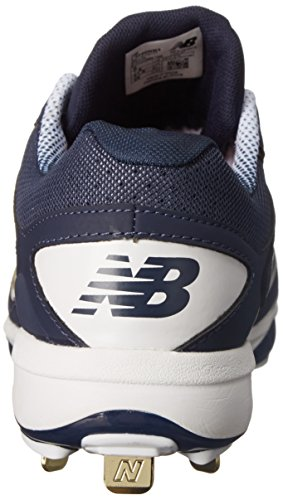 New Balance Men's L4040V3 Cleat Baseball Shoe, Navy/White, 10.5 D US Navy/White