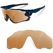 Sunglasses Restorer Lentes de Recambio Polarizadas para Oakley Jawbreaker ( Elige el Color ) (marron)