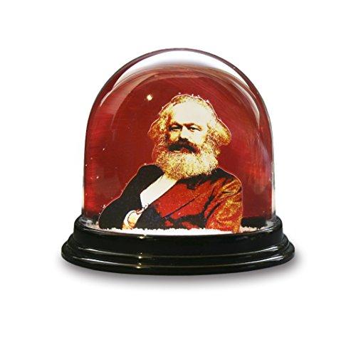 Dresden-Onlineshop Schneekugel Karl Marx 200 Jahre rote Schüttelkugel Glitzerkugel Kommunismus Marxismus hergestellt in Deutschland