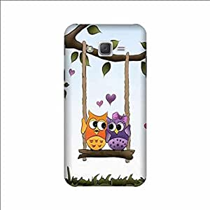 Yashas High Quality Designer Printed Case & Cover for Samsung Galaxy J5 (2015 Model) (Two Owls)