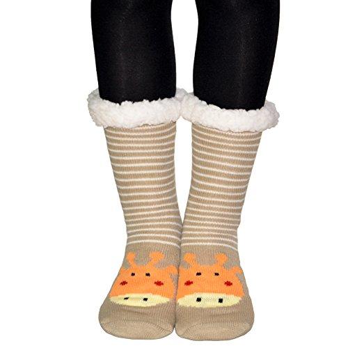 Hapileap, Pantofole Da Donna Taglia Unica Marrone