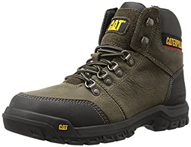 Caterpillar Men's Outline Steel Toe Work Boot Dark Gull Grey 10 W US