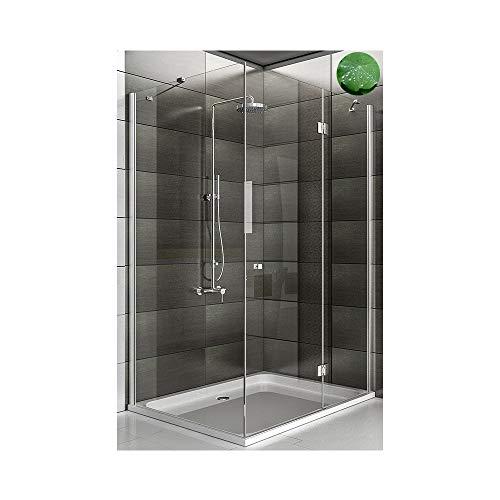 Eck Duschen Glas-Duschkabine Design Duschkabine inkl. Glasveredelung Echtglas Dusche Dusch