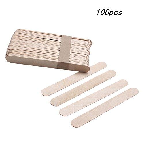 Cosanter Holzspatel Holzmundspatel Bastelspatel aus Holz, 100 Stück, Einweg
