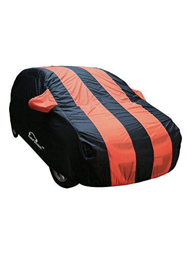 Autofurnish Stylish Orange Stripe Car Body Cover For Hyundai i10...