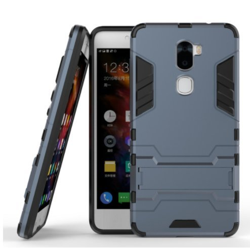 TARKAN Heavy Duty Shockproof Armor Kickstand Back Case Cover for Coolpad Cool 1 [Black]