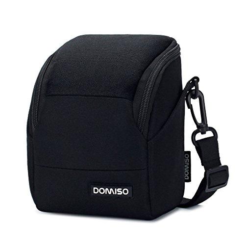 DOMISO Camera Case Kameraetui Schultertasche für Systemkamera Canon EOS M6 M5 M3 M10 PowerShot SX540 HS SX430 IS / SONY A6500 A6300 A6000 A5100 / NIKON 1 J5 COOLPIX B700 B500 / OLYMPUS E-PL 8 - Speicherkarte Canon Powershot