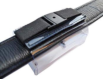 Tracker Housse de transport pour collier de jusqu'à 50 mm en PVC de qualité supérieure avec fermeture velcro, sécurité supplémentaire, poche d'adresses, étiquette d'adresse pour traceur GPS XL 80 x 49 x 29 mm