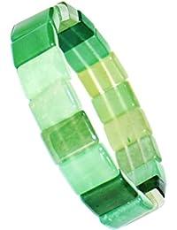 RUDRADIVINE Semi-Precious Emerald Panna Gemstone Bracelet