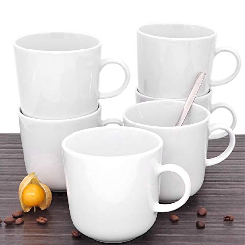 Kahla 470265A90047C Pronto Becher-Set, weiß Ohne Dekor Kaffeebecher, 6 tlg. 6 Person 300 ml...