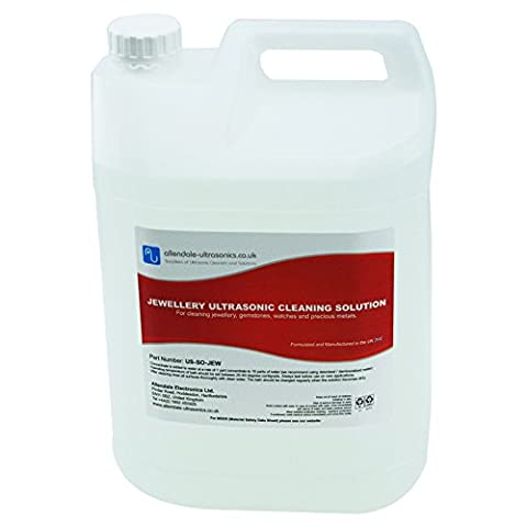 Ultrasonic Cleaning Fluid Restore Jewellery Precious Metals 5L Concentrate -