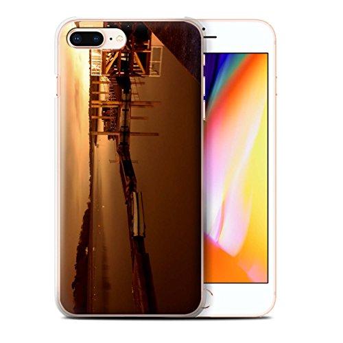 Stuff4 Hülle / Case für Apple iPhone 8 Plus / Rotes Boot Muster / Britischen Küste Kollektion Hafen