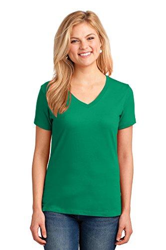 Port & Company® Ladies Core Cotton V-Neck Tee. LPC54V Kelly 4XL