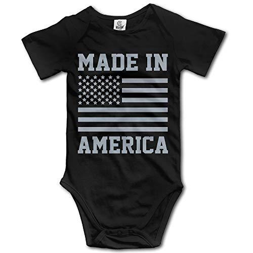 Infantile Made in America USA Orgoglio Militare Merica Flag Body Neonato Tutina Taglia 18M