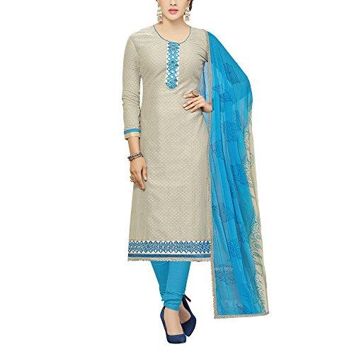 Mrinalika Fashion Women\'s Cotton & Crush Dress Material (KBL82001_Grey_Free Size)
