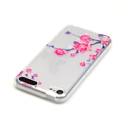 Lotuslnn iPhone 6/6S Coque (4.7 Pouce),Apple iPhone 6/6s TPU Silikon Etui Transparent Housse Cases and Covers (Coque+ Stylus Pen + Tempered Glass Protective Film)- fleurs de cerisier A Fleur de Prunier