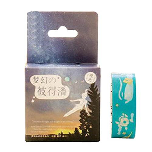 2ST-japanisches Vintages Luminous DIY dekorative Masking Tape Klebeband Sticky Papier, S