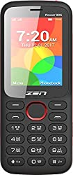 ZEN Power 205 Dual SIM Feature Phone (Black-Red)