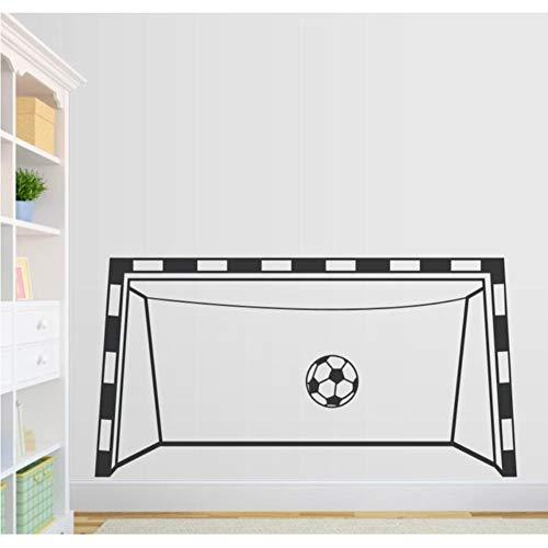 Kreative Fußballtor Wandtattoo Spielzimmer Dekor Vinyl Wandaufkleber Tor Benutzerdefinierte Farbe Verfügbar Abziehbilder Dekor Wohnzimmer 91 * 48 Cm (Wie Fußballtor Ist Hoch Ein)