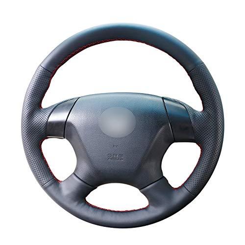 ZYTB Für Schwarzes Pu Auto Lenkradbezug Für Honda Accord 7 2003-2007 Odyssey 2005-2010,Moonlight White