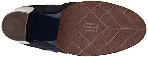 Tommy Hilfiger High Suede Boot Hg 3b, Chaussures Bateau Homme Bleu (Midnight)