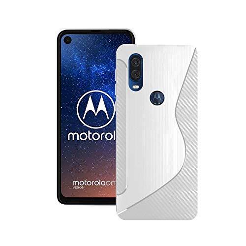 Kompatibel mit Motorola One Vision Silikon S-LINIE GEL TPU Schutzhülle Cover in Durchsichtig