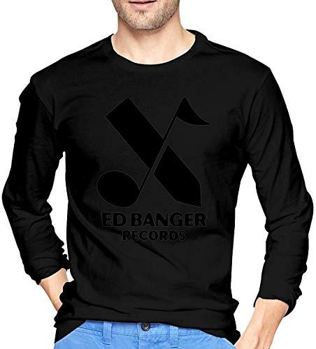 Ed Banger Records Men's Long Sleeve T-Shirts,Long Sleeve T-Shirts for Men's S