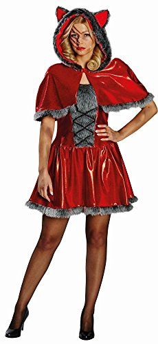 Damen Kostüm Rotkäppchen Wölfin Halloween Karneval Fasching Gr.40