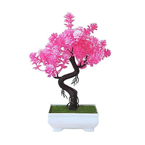 Quiet.T Bonsaï Vert de Simulation de Plantes en Pot Faux décoration de Fleurs décoration de Table intérieure, adapté pour la Famille, intérieur et extérieur