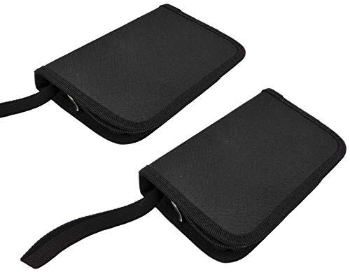 USB-Stick Hülle 6-fach schwarz mit Reißverschluss und Trageschlaufe - 2 Stück