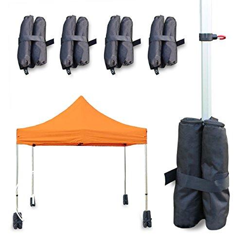 PROFIZELT24 Gewichtstaschen 4er Set Pavillon Gartenpavillon schwarz jeweils ca. 8 Kg Wasserfest...