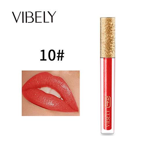 Lenfesh Spiegel Sexy Liquid Lip Gloss Frauen Lippenstift Wasserdichte langlebige flüssige Makeup...