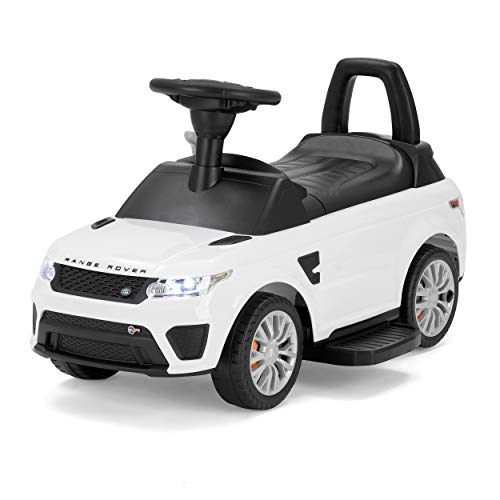 Range Rover Officially Licensed Sport SVR Kids Electric Ride On Car, Sit and Go 2-in-1 Toy, White