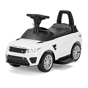 Range Rover - Juguete 2 en 1 con Licencia Oficial de Sport SVR para niños, Color Blanco (Producto con Enchufe de UK)