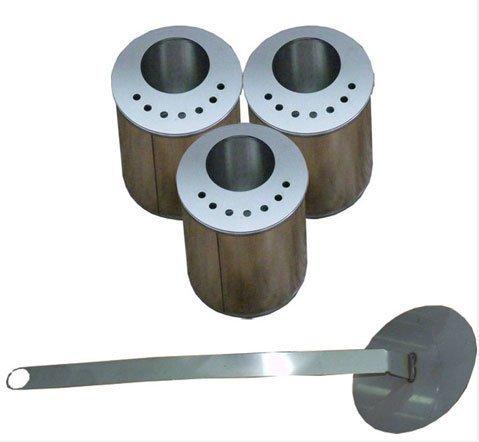 3 x 0,5 Lit Quemadores con placas de metal / hacia el bioetanol / biocamini / + chispa con lana de vidrio...