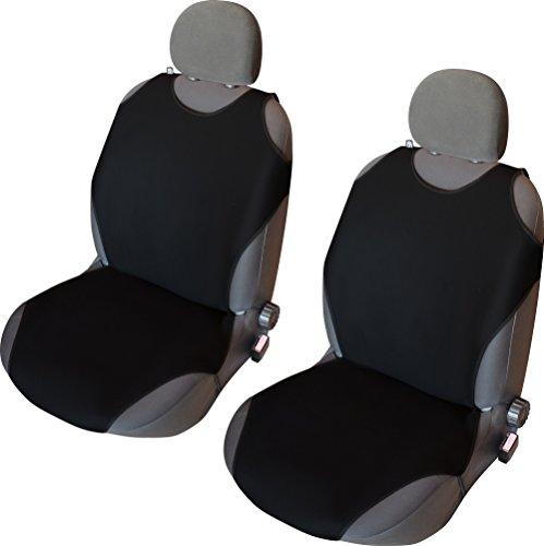 Akhan CSC406 - 1 Paar (2Stück) Sitzbezug Sitzauflage Sitzschoner Schwarz