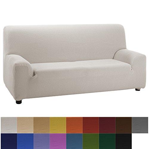 Jarrous Funda de Sofá Elástica Modelo Camden, Color Gris, Medida 5 Plazas – 270-320cm