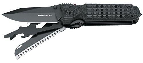 FKMD Erwachsene Messer M.P.S.K. Survival Camp Tool Black Schwarz, STANDARD