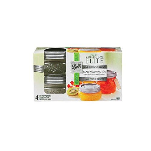 Ball Canning Jar Wide Mouth W/Lid 4/Pkg-Half Pint Half Pint Canning Jar