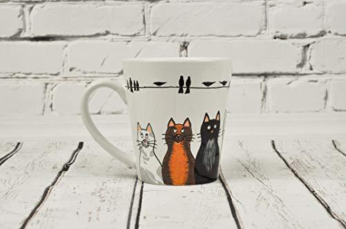 zenliebhaber Becher, bemalte Kaffee Tasse, lustige Kaffee Tasse, Katze Kaffee Tasse, Tee Tasse Becher, einzelne Tee Tasse, heiße Tee Tasse, Keramik Tee Tasse ()