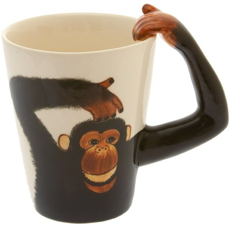 Monkey/Chimp Handle Tea/Coffee Mug - Cheeky Monkey Mug by Windhorse