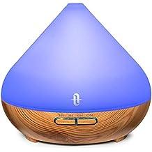 TaoTronics Aroma Diffuser mit patentiertem Ölflusssystem 300ml Düfte Humidifier 7 Farben für Yoga Salon Spa Wohn-, Schlaf-, Bade- oder Kinderzimmer Hotel【2019 Neueste】 (Generalüberholt)