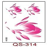 frescos pegatinas de tatuaje a prueba de agua letras inglesas rosa estrellas 3pcs-34 6x10.5cm