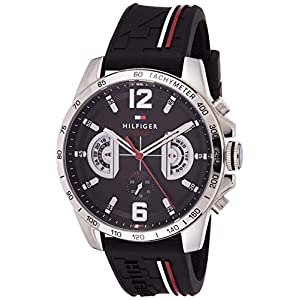 Tommy Hilfiger Unisex-Adult Multi dial Quartz Watch with Silicone Strap 1791473