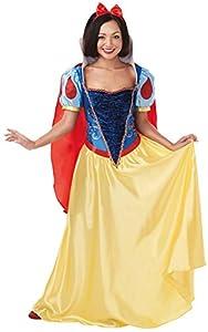 Princesas Disney - Disfraz de Blancanieves Deluxe para mujer, Talla S adulto (Rubie