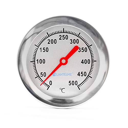 Lantelme 50 cm 500 °C Grad Grillthermometer Edelstahl Smoker Pizzaofen Tandur Mangal BBQ Thermometer Analog 3115