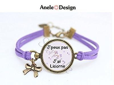 Bracelet J'peux pas J'ai Licorne