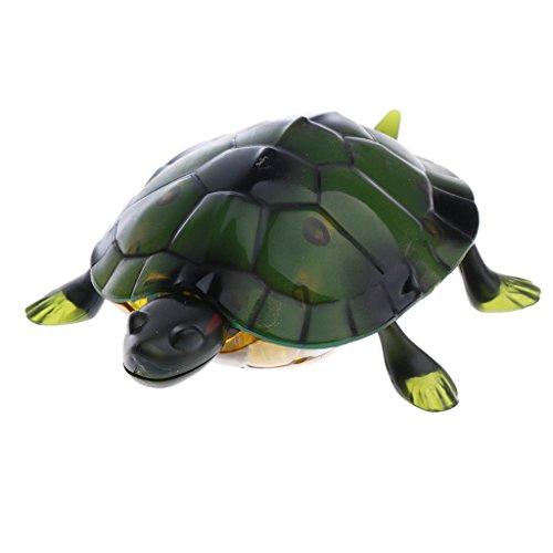 MagiDeal Neuheit RC Infrarot Fernbedienung Realistisches Insekten Streich Scherz Trick Spielzeug für Halloween Party - Grüne Schildkröte (Supplies Party Insekten)