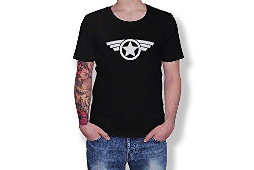Captain America - Star Logo - Marver Super Hero - Novelty Gift - Unisex Adult T-Shirt